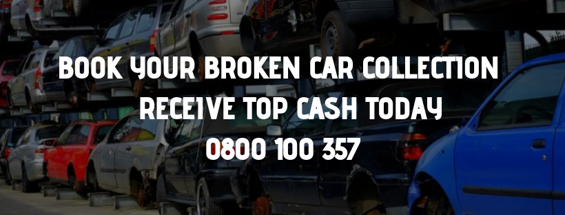 Book your Broken Car Collection today and recieve top cash for cars
